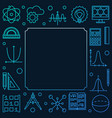 science technology engineering and math blue vector image vector image