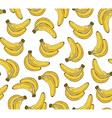 seamless pattern with banana Hand drawn vector image vector image