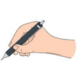 set of hand writing with pencil vector image