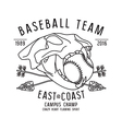 Skull animal Baseball team emblem vector image