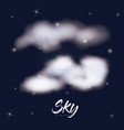 sky clouds poster with clouds over background of vector image vector image