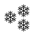 Snow design isolated snowflake icon vector image vector image