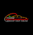 speed car motorsport logo vector image vector image