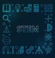 stem blue square frame science outline vector image vector image