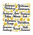 summer handwritten lettering vector image vector image
