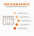 test tube science laboratory blood infographics vector image