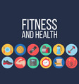 time for fitness poster vector image vector image