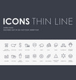 united states thin line icons vector image