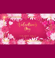 valentines board with gold border vector image vector image