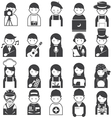various people symbol icons occupation and artisan