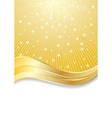 vector golden abstract background vector image