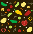 vegetables in simple style on vector image