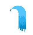 water leak isolated sewerage is broken vector image vector image