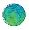 watercolor globe vector image vector image