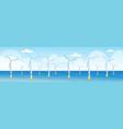 wind turbines clean alternative energy source vector image