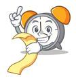 with menu alarm clock mascot cartoon vector image