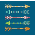 Abstract close up of Aztec arrows icons set vector image