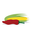 0610corn and pepper vector image vector image