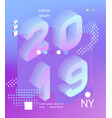 2019 neon holographic memphis style banner vector image