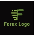 Abstract for forex f letter companies trending vector image vector image
