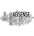 adsense decoded review good or bad text word vector image vector image