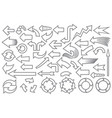 arrows thin line icons set vector image vector image