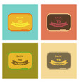 assembly flat icons back to school board vector image vector image