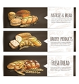 Bakery fresh bread and pastries poster vector image vector image