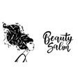 black woman silhouette vector image