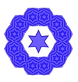 Blue David Star Jewish Symbol of Religion vector image