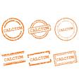 Calcium stamps vector image vector image