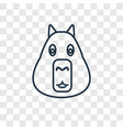 capybara concept linear icon isolated on vector image
