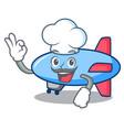 chef zeppelin character cartoon style vector image