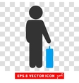 Child Baggage Eps Icon vector image vector image