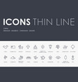 china thin line icons vector image