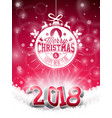 christmas and 2018 happy new year vector image