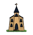 church building religious christian sketch vector image