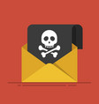 concept of sending spam and virus hacker attack vector image vector image