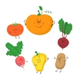Cute funny vegetables set vector image vector image