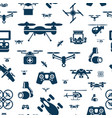 digital flying drone objects color vector image vector image