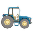 farm tractor flat icon vector image