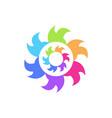 flaming abstract geometric logo vector image