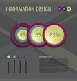 flat business diagram vector image