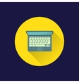 Flat laptop icon vector image