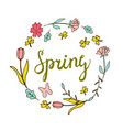 floral background spring theme greeting card vector image vector image