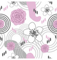 flowers delight-flowers in bloom seamless repeat vector image vector image