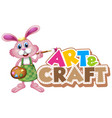 font design for word art and craft with happy vector image
