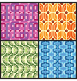 four retro style colorful patterns vector image