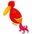 funny parrot cartoon animal character vector image vector image