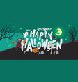 halloween banner background party at night vector image vector image